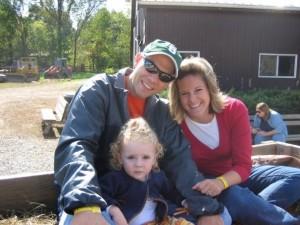 The family at the pumpkin farm Fall 2008